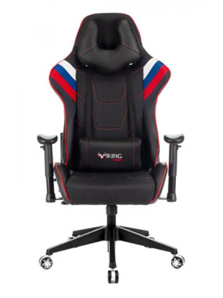 Кресло игровое Zombie VIKING 4 AERO белый/синий/красный искусст.кожа/ткань с подголов. крестовина пластик