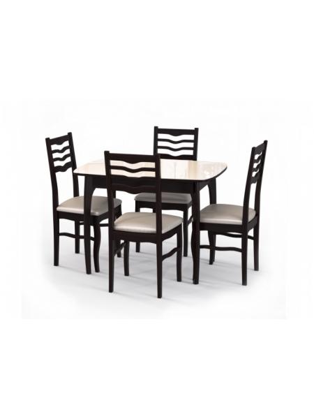 Стол М15 венге/беж + 4 Стула М16 венге